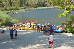Rafting Groups end their float trips at Mackay Bar Ranch